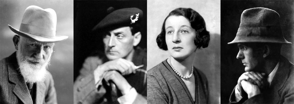 GB Shaw, Compton Mackenzie, Josephine Tey and Neil Gunn